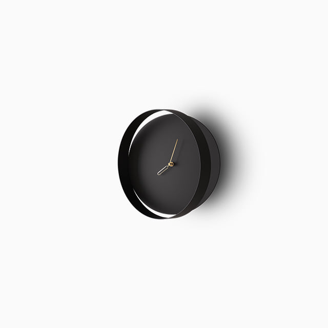 Beyond Object - Orbis clock ( Black / Pastel Pink)
